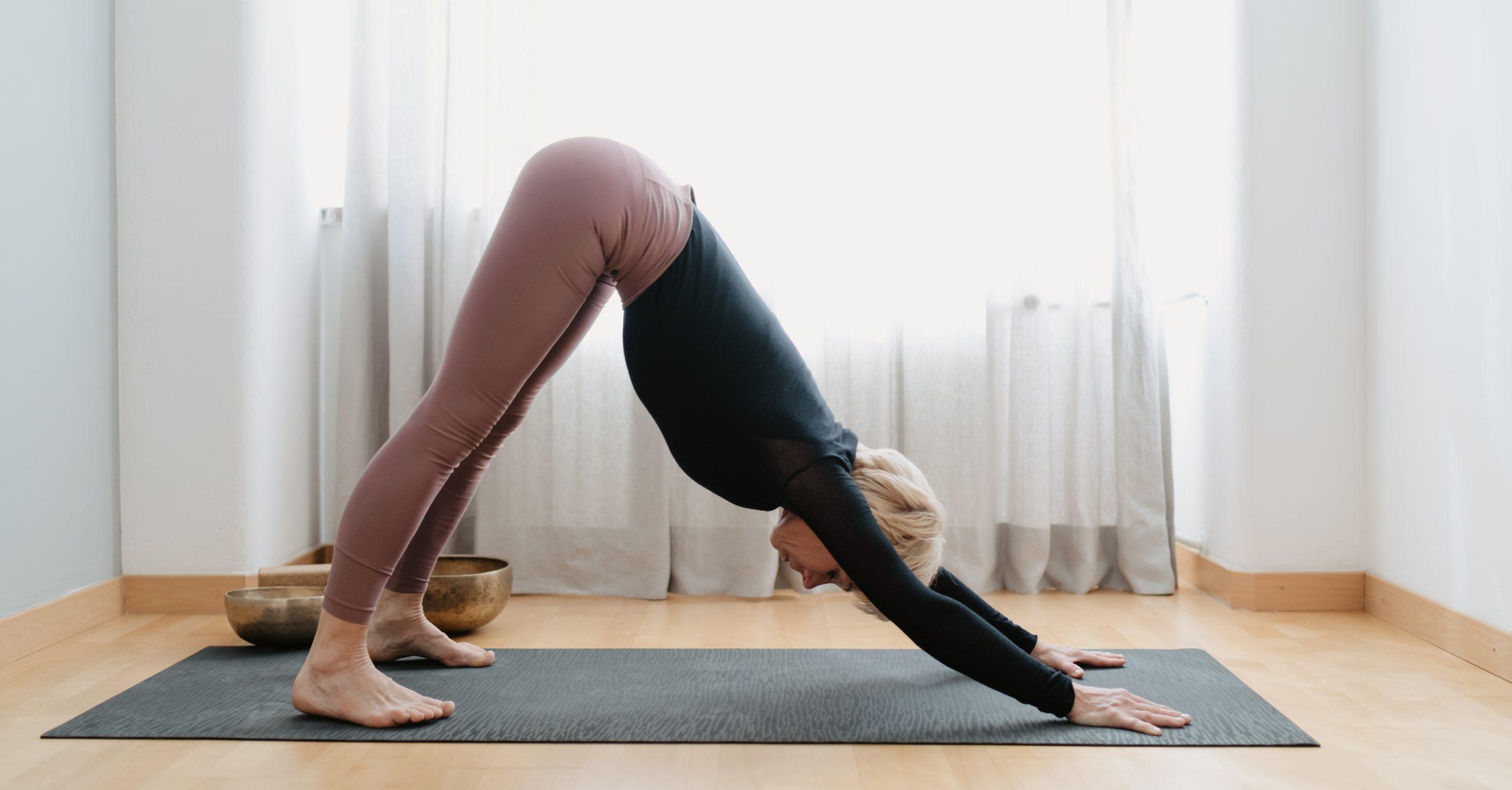 Yoga herabblickender Hund